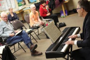Parkinson's Singing Group Brian Farrell at Piano